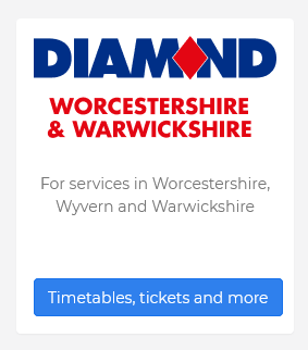Dianmond Bus Timetable Warwickshire and Worcestershire